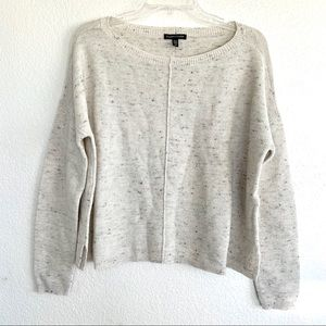 Eileen Fisher Cotton Wool Speckled Knit Sweater
